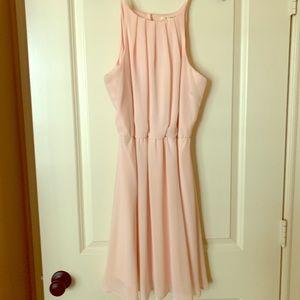 Pale pink sleeveless dress. Women's L